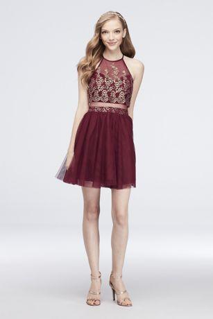 Short Ballgown Halter Dress - Choon