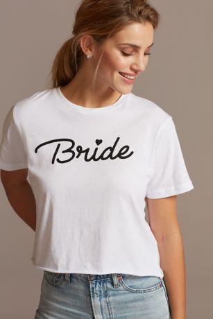 Bride Script Crop Top T-Shirt