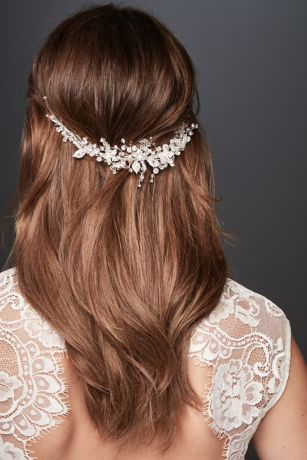 Blooming Crystal Floral and Branch Hairpiece