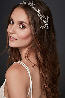 Crystal Laurel Ribbon Headband
