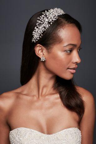Scattered Crystal Petals Headband
