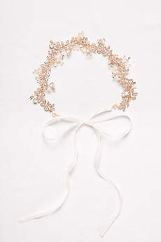 Floral Crystal and Pearl Hair Accessory