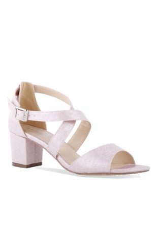 f20c833b668 Pink Paradox Black Pink Sandals (Shimmery Crisscross Strap Block Heel  Sandals)
