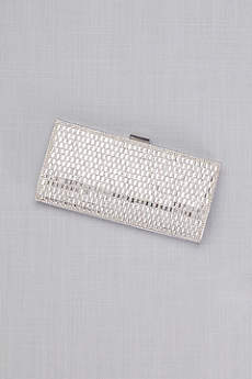 Rhinestone Baguette Clutch with Foil Back