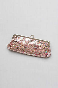Allover Glitter Frame Clutch