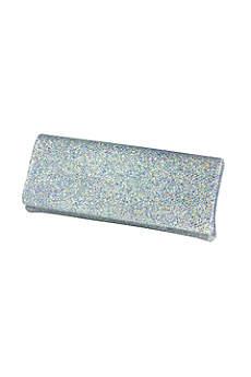 Iridescent Glitter Mesh Envelope Clutch