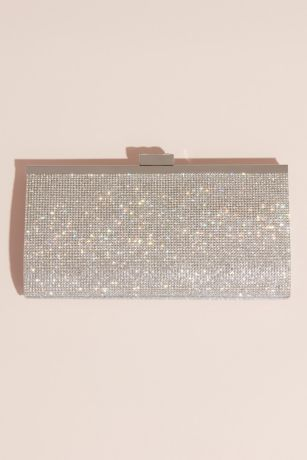 Crystal and Metallic Clutch with Crystal Clasp