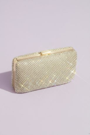 Crystal Minaudiere Evening Clutch with Chain Strap