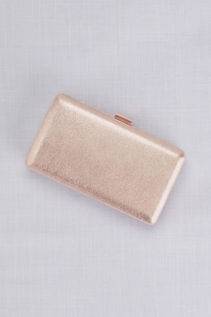 Metallic Shimmering Box Clutch