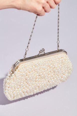 Pearl Encrusted Kiss Lock Clutch