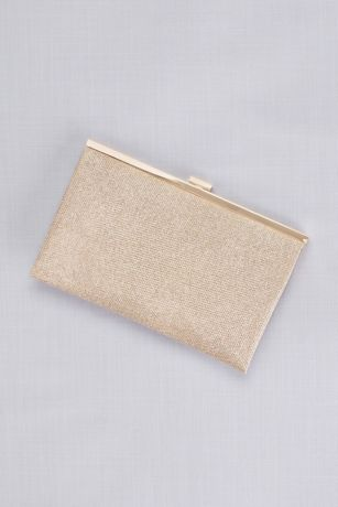 Allover Glitter Metallic Clutch
