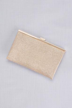 Allover Glitter Metallic Clutch