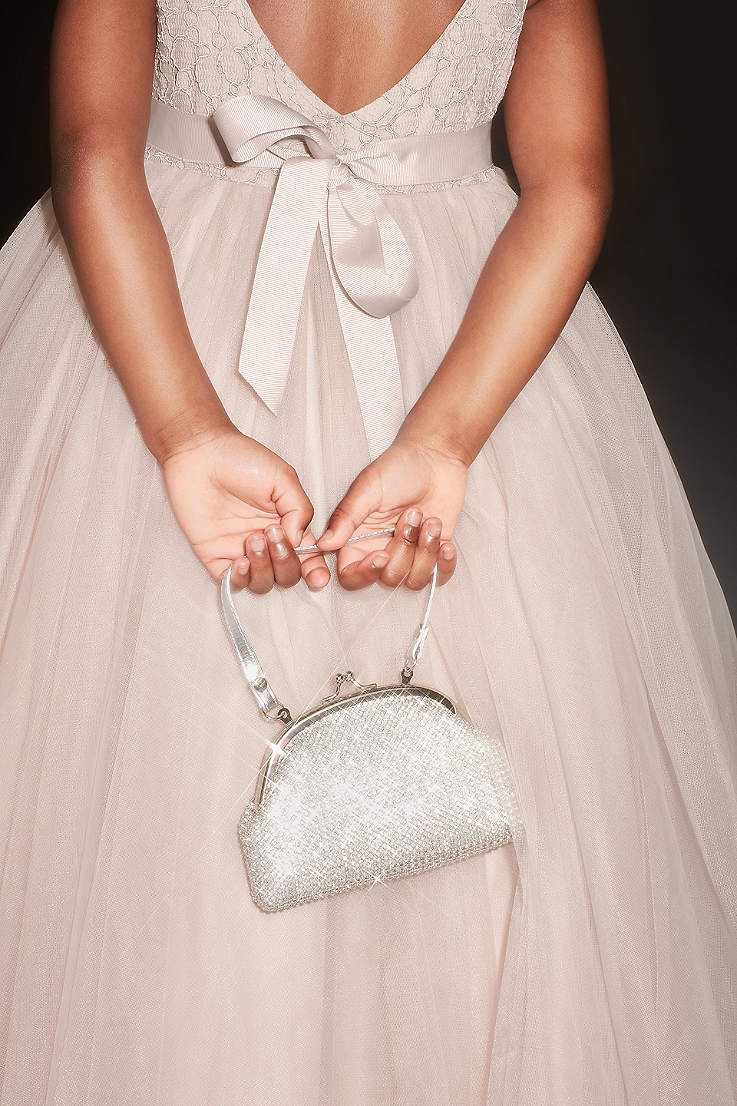 Crystal Mesh Soft Flower Girl Bag
