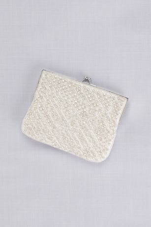 Crystal Beaded Lattice Clutch