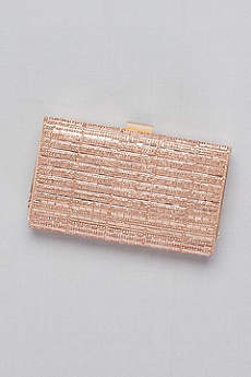 Baguette and Pave Crystal Frame Clutch