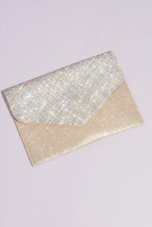 Crystal Flap Glitter Envelope Clutch