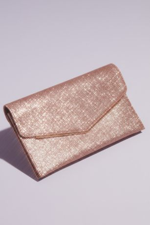 Glitter Envelope Clutch with Metal Edge