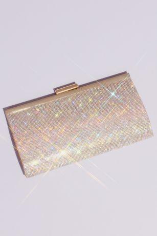 Iridescent Crystal Glitter Baguette Clutch