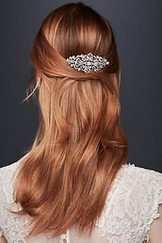 Filigree Flourish Crystal Comb