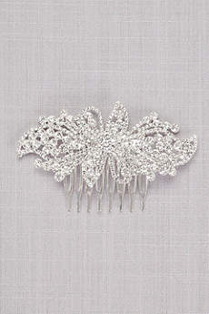 Bold Crystal Flower Comb