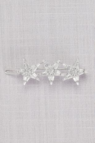 Vintage-Inspired Crystal Triple Star Barrette