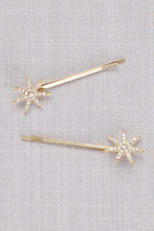 Vintage Crystal Starburst Bobby Pins