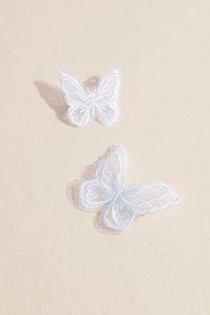 Organza Butterfly Flower Girl Hair Clips