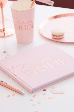 Team Bride Velvet Guest Book