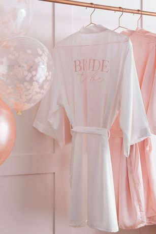 Embroidered Bride To Be Robe