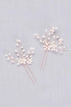 Flower Spray Hair Pin Set