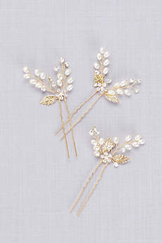 Clustered Pearl Flower Hair Pin Set