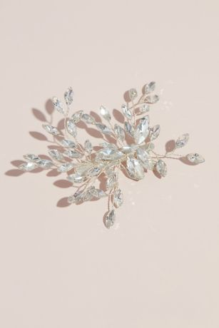 Marquise Cut Branches Blooming Crystal Hair Clip