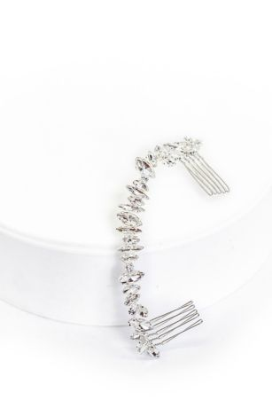 Marquise Crystal Mix Halo Comb