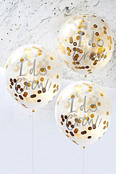 12 Inch I Do Crew Confetti Balloons Pack of 5 ID-403
