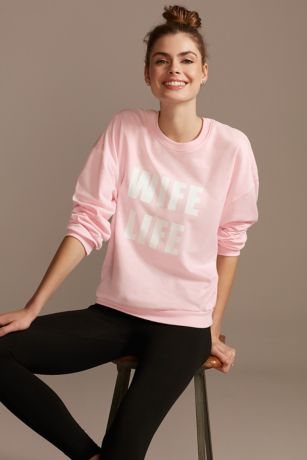 Wife Life Relaxed Fit Crew Neck Sweatshirt