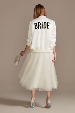 Sequin Bride Bomber Jacket