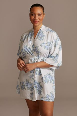 Blue Blooms Floral Robe