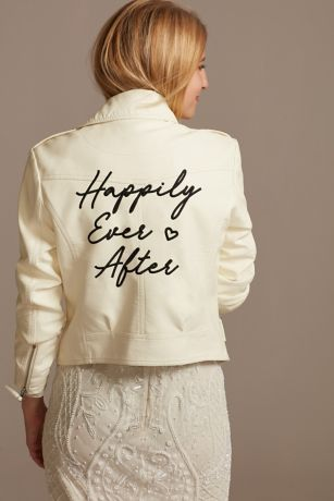 Happily Ever After Vegan Leather Moto Jacket