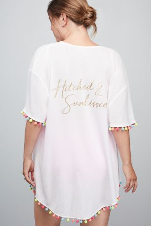 Hitched and Sunkissed Pom Pom Kimono Pool Cover Up