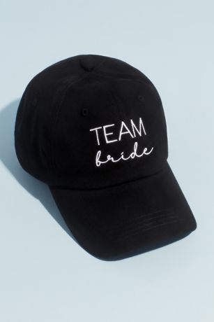 Canvas Embroidered Team Bride Baseball Cap