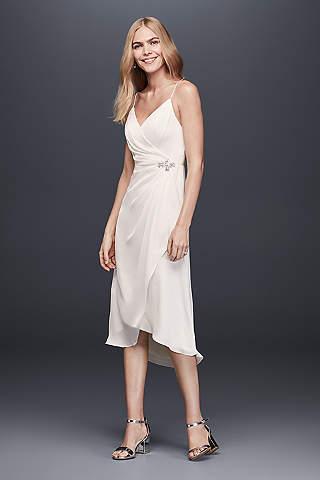 Short tea length wedding dresses davids bridal short sheath casual wedding dress db studio junglespirit Images