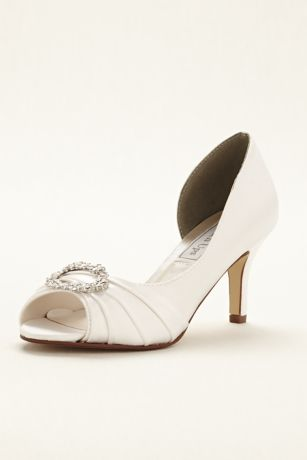 Touch Ups White Pumps (Ivanna Dyeable Peeptoe Pump by Touch Ups)