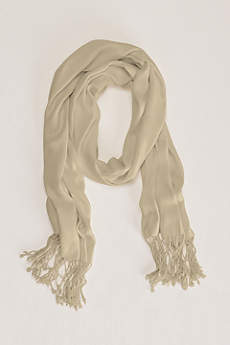 Sateen Pashmina with Fringe Accent