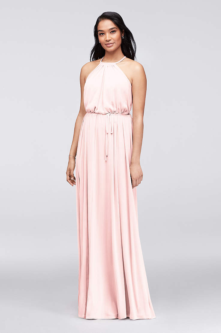 ac204a5563851 Soft & Flowy David's Bridal Long Bridesmaid Dress