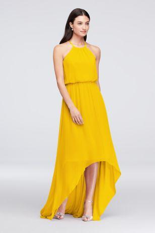 High Low Sheath Halter Dress -