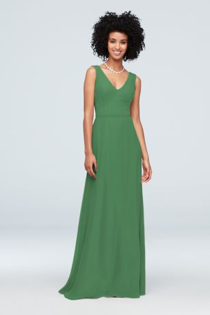 Chiffon V-Neck Tank Bridesmaid Dress