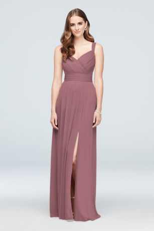 Pleated Mesh Sweetheart Tank Bridesmaid Dress by David's Bridal