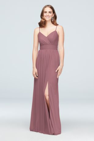 39762a6641f Shoptagr | Ruched Waist Mesh Spaghetti Strap Bridesmaid Dress by ...