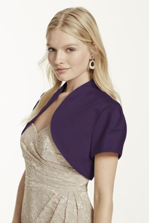 Short Sleeve Satin Bolero