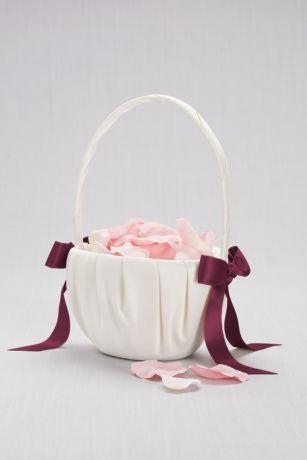 Single Ribbon Flower Basket